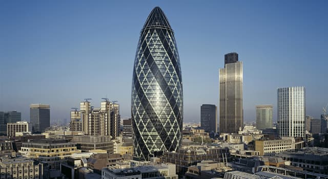 Geography Trivia Question: In the UK, what is the name of the street where 'The Gherkin' tower block is located?