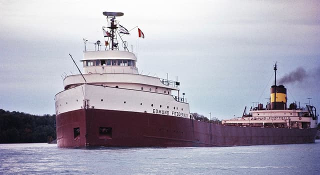 Geschichte Wissensfrage: In welchen großen See sank die SS Edmund Fitzgerald 1975?