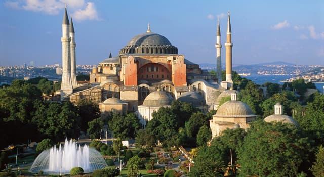 """Geographie Wissensfrage: In welcher Stadt befindet sich die Moschee """"Hagia Sophia""""?"""