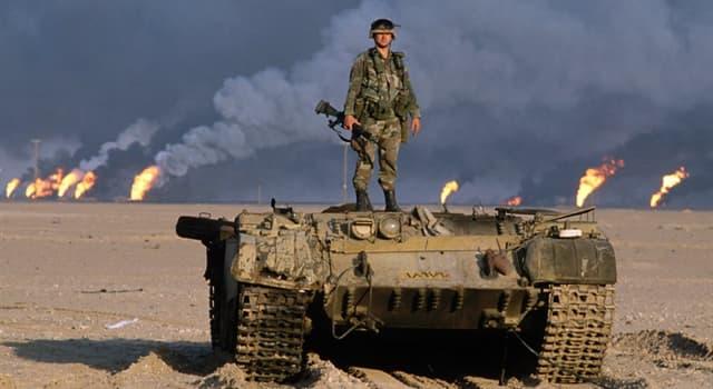 Geschichte Wissensfrage: In welches Land drang der Irak ein und löste so den ersten Golfkrieg aus?
