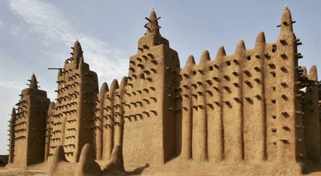 Geography Trivia Question: In what country would you find the largest mud brick building in the world?