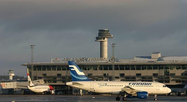 """Geografia Pytanie-Ciekawostka: Jaką europejską stolicę """"obsługuje"""" lotnisko w Arlandzie?"""