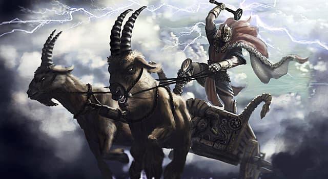 Kultura Pytanie-Ciekawostka: Jak w mitologii nordyckiej mają na imię dwa kozły ciągnące rydwan Thora?