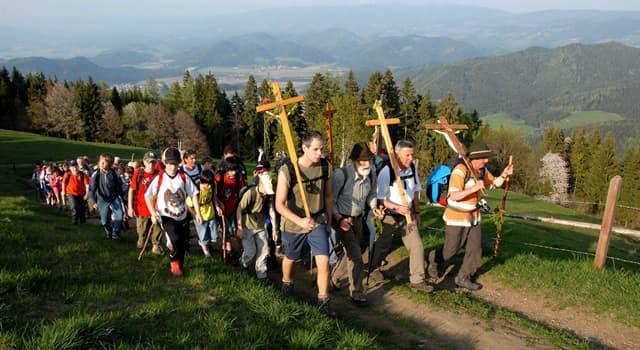 Культура Запитання-цікавинка: Як називають подорож віруючих з метою поклоніння до географічних місцевостях і реліквіям?