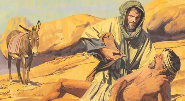 Культура Запитання-цікавинка: Яка притча Ісуса розповідає про милосердя і безкорисливої допомоги потрапила в лихо?