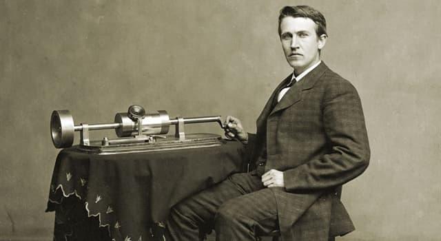 Історія Запитання-цікавинка: Які перші слова записав Томас Едісон на фонограф в 1877 році?