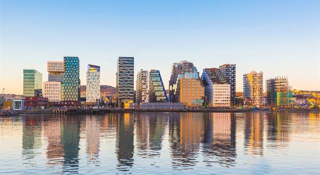 Географія Запитання-цікавинка: Яке місто є столицею Норвегії?