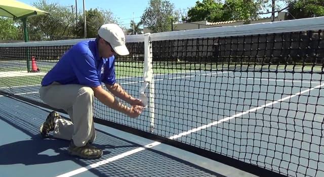 Спорт Запитання-цікавинка: Яка висота сітки тенісного корту в середині?