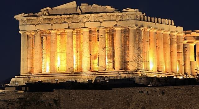 historia Pytanie-Ciekawostka: Komu została poświęcona świątynia Partenon?