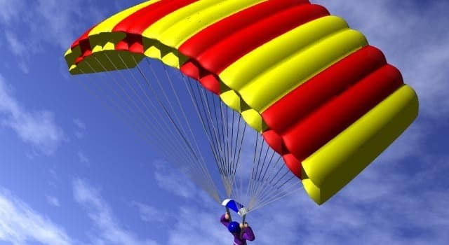 nauka Pytanie-Ciekawostka: Kto jako pierwszy opracował spadochron?