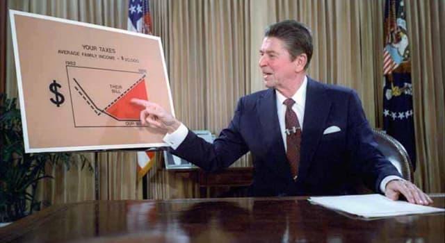 """historia Pytanie-Ciekawostka: Kto nazwał politykę gospodarczą Ronalda Reagana """"gospodarką wudu""""?"""