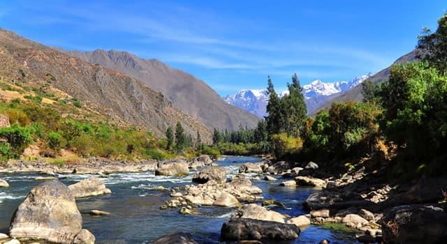 Geografia Pytanie-Ciekawostka: Która z wymienionych to rzeka w Peru?