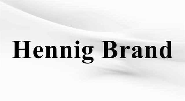 nauka Pytanie-Ciekawostka: Który pierwiastek chemiczny odkrył niemiecki alchemik Hennig Brand w 1669 roku?