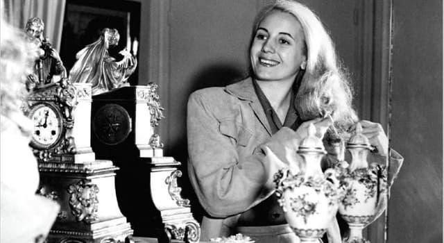 Історія Запитання-цікавинка: Першою леді якої країни була Ева Перон?