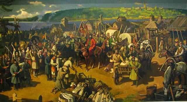 Історія Запитання-цікавинка: При якій російській імператриці відбулося Повстання Пугачова?