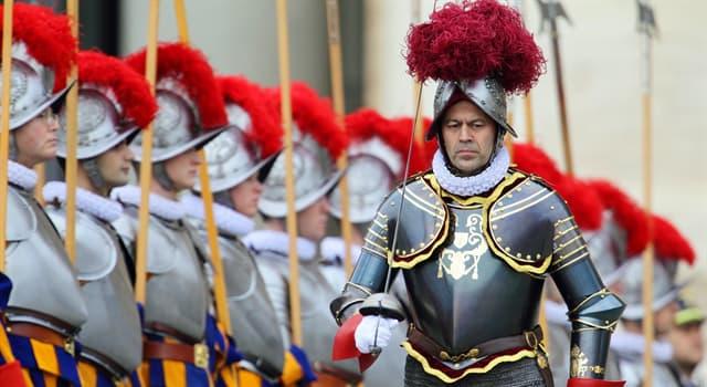 Культура Запитання-цікавинка: Швейцарська гвардія - єдиний в даний час вид збройних сил якої країни?