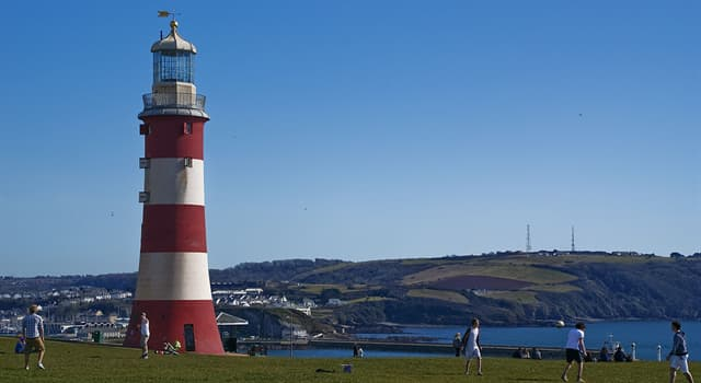 Geography Trivia Question: The Smeaton's Tower is located in which English coastal city?