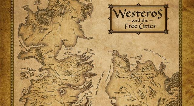 """Фільми та серіали Запитання-цікавинка: В якому серіалі дія відбувається на вигаданому континенті """"Вестерос""""?"""