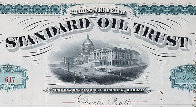 """Gesellschaft Wissensfrage: Vom wem wurde das Unternehmen """"Standard Oil Company"""" gegründet?"""