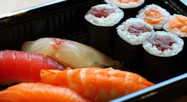 Kultura Pytanie-Ciekawostka: W co tradycyjnie zawija się sushi?