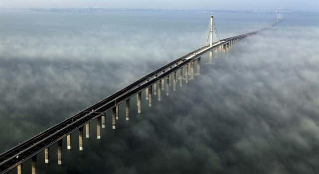 Geografia Pytanie-Ciekawostka: W którym kraju - stanem na 2018 rok - znajduje się najdłuższy most świata?