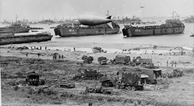 Geschichte Wissensfrage: Was war die größte navale, Luft- und Land-Operation der Geschichte?