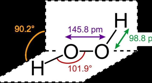Wissenschaft Wissensfrage: Welche chemische Verbindung hat die Formel H2O2?