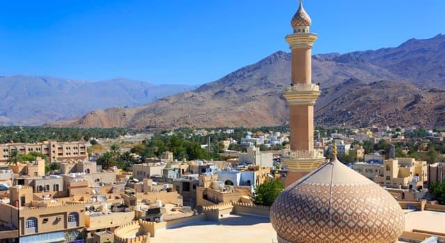 Geographie Wissensfrage: Welche dieser Städte ist die Hauptstadt und die größte Stadt Omans?