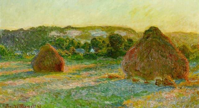 """Kultur Wissensfrage: Welcher französische impressionistische Maler ist der Autor des Gemäldes """"Meules"""" (""""Heuhaufen"""")?"""
