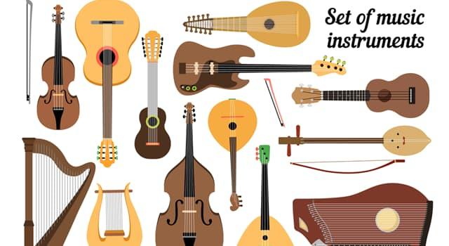 Kultur Wissensfrage: Welches dieser Instrumente ist ein russisches dreieckiges Musikinstrument?