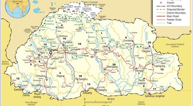 Kultur Wissensfrage: Welches gewöhnliche urbane Merkmal hat Thimphu, die Hauptstadt Bhutans, nicht?