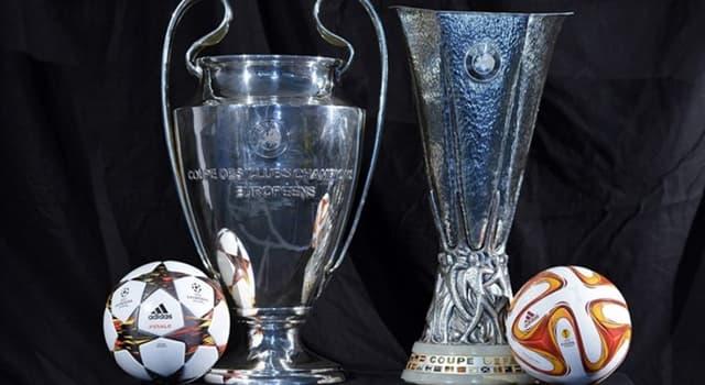 Sport Wissensfrage: Welches Land stellte als erstes Land beide Finalisten der Champions- und Europaleague?