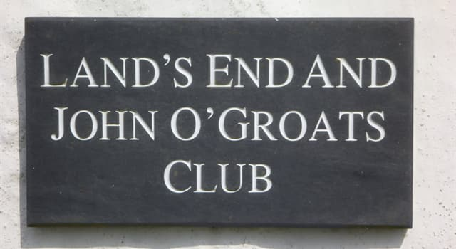 Geography Trivia Question: What is the distance (by road) between Land's End to John o' Groats?