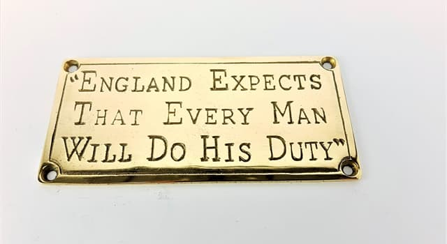 """History Trivia Question: Which British leader signaled to his troops """"England expects that every man will do his duty""""?"""