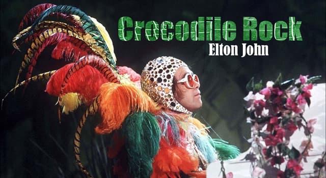 "Culture Trivia Question: Which Elton John album contained the hit single ""Crocodile Rock""?"