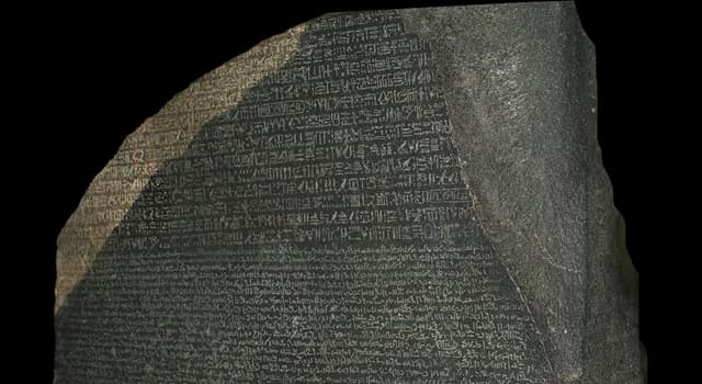 History Trivia Question: Which stele became key to deciphering Egyptian hieroglyphs?