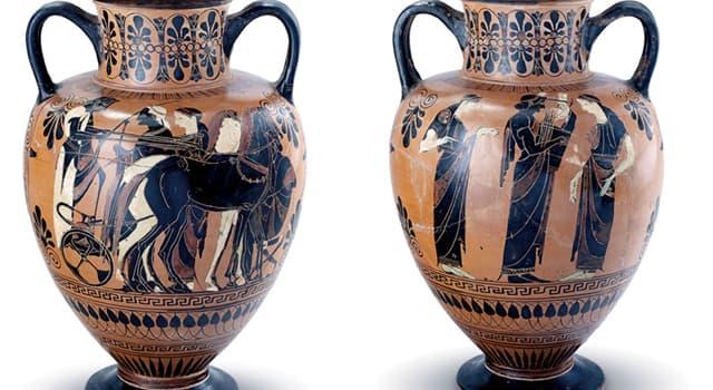 Kultur Wissensfrage: Wie heißt ein Gefäß mit zwei Henkeln, das in der Antike von Griechen verwendet wurde?