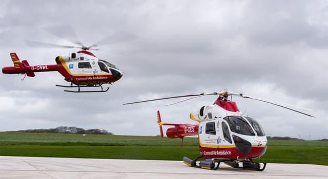 Geschichte Wissensfrage: Wo wurde Cornwalls Air Ambulance gegründet?