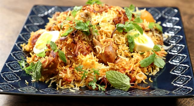Kultura Pytanie-Ciekawostka: Z kuchni narodowej którego kraju pochodzi danie biriani?
