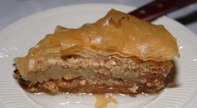 Kultura Pytanie-Ciekawostka: Z plastrów którego ciasta tradycyjnie robi się baklawę?