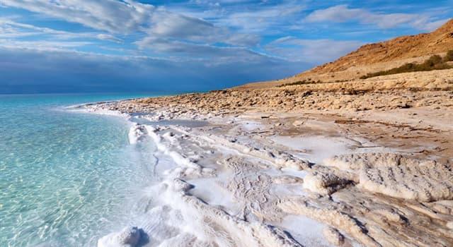 Geographie Wissensfrage: An welche zwei Länder grenzt das Tote Meer?
