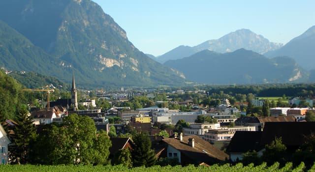 Geographie Wissensfrage: An welchem Fluss liegt die Hauptstadt von Liechtenstein Vaduz?
