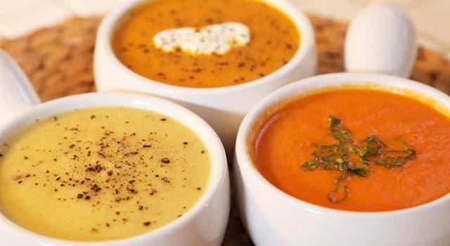 Культура Запитання-цікавинка: Що з перерахованого не є супом?
