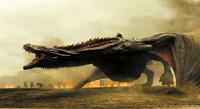 """Film & Fernsehen Wissensfrage: In der US-amerikanischen Fernsehserie """"Game of Thrones"""" sind 3 Drachen zu sehen. Wie heißen sie?"""