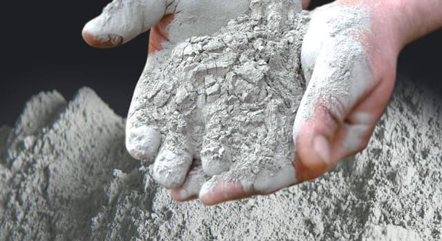 nauka Pytanie-Ciekawostka: Który materiał składa się z wody i cementu?