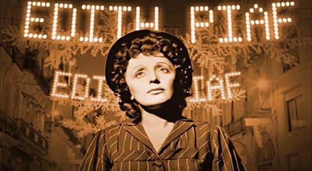 Kultura Pytanie-Ciekawostka: Jaki pseudonim miała francuska piosenkarka Edith Piaf?