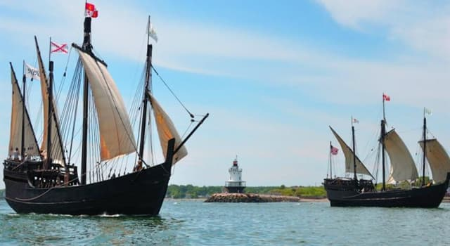 Історія Запитання-цікавинка: Як називався найменший корабель Христофора Колумба в його першій океанської експедиції?