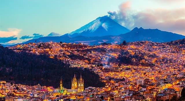 Географія Запитання-цікавинка: Яке місто є столицею Еквадору?