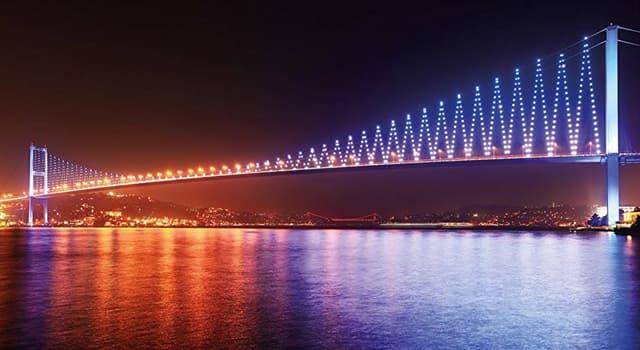 Географія Запитання-цікавинка: Який міст у Стамбулі з'єднує Азію і Європу?