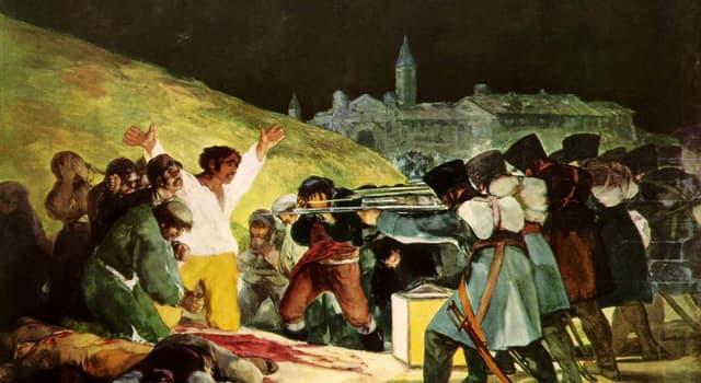 """Kultura Pytanie-Ciekawostka: Kto namalował obraz '' Trzeci maja 1808""""?"""